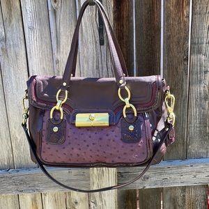 ⬇️ Coach Gorgeous Plum leather E1193-18282 flap